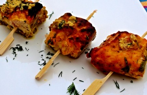 Content For Mum's Book Blast -Saffron and Almond Salmon Kebabs